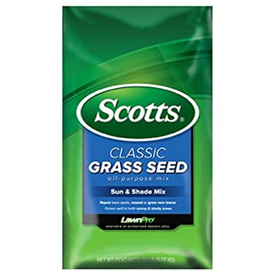 Scotts Company 17185 Classic Sun and Shade Mix Grass Seed, 7-Pound : Grass Plants : Garden & Outdoor
