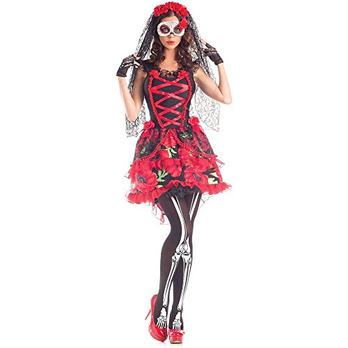 (Party King Day of the Dead Floral Senorita Adult)