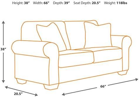 home, kitchen, furniture,  living room furniture 7 image Signature Design by Ashley - Larkinhurst Contemporary Loveseat, Earth promotion