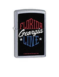 Florida Georgia Line Zippo Outdoor Indoor Windproof Lighter Free Custom Personalized Engraved Message Permanent Lifetime Engraving on Backside