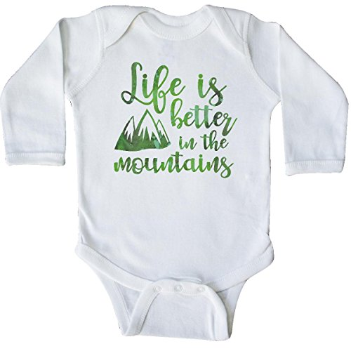 inktastic - Life's Better Mountains Long Sleeve Creeper 6 Months White