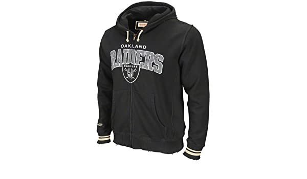 Amazon.com  NFL Mitchell   Ness Oakland Raiders Black Arch Rivals Full Zip  Hoodie Sweatshirt (Small)  Clothing aedbcf07b