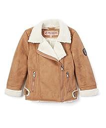 Urban Republic Little Girls\' Faux Sherling Moto Jacket, Caramel, 4