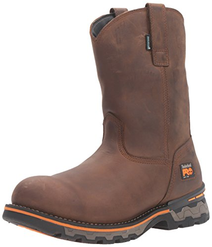 Timberland PRO Men's Ag Boss Soft Toe Waterproof Pull-on Industrial and Construction Shoe, Brown Distressed Leather, 12 W US ()