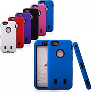 Mini - PC + Silica Gel 3 in 1 Design Shockproof Back Cover Case for iPhone 6 , Color-White