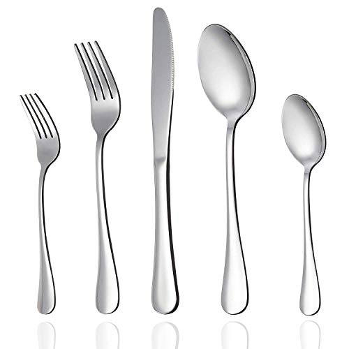 Cambridge Silversmiths Jubilee Red 16-Piece Flatware Silverware Set, Service for 4, Includes Forks/Spoons/Knives