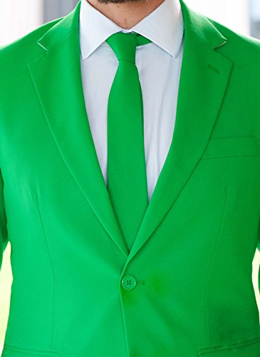 [Men's Solid Green Suit by OppoSuits - Individual Jacket, Pants, or Tie, Green, Tie Only - Solid] (Morph Suit Costumes Ideas)