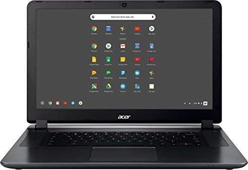 Acer 15.6in HD High Performance Student Chromebook-Intel Dual-Core Celeron N3060 Processor, 4GB RAM, 16GB SSD, Intel HD Graphics, HDMI, WiFi, Bluetooth, Chrome OS-(Renewed) (4GB)