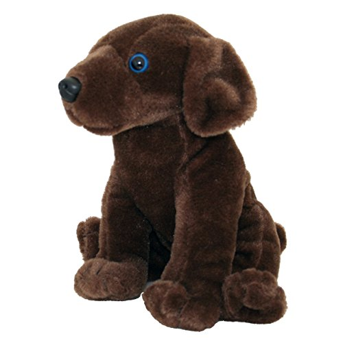 Anico Plush Toy Dog, Stuffed Animal, Brown Lab, 8 Inches Tall