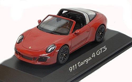Modelcar scale 1/43 Porsche 911 targa 4 GTS 991 red