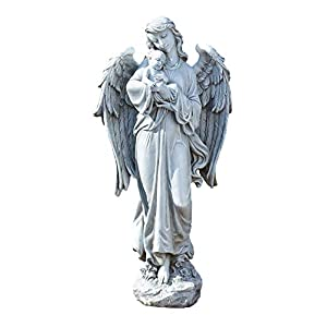 Roman Joseph's Studio Angel Holding Baby Statue, 25.5H, Garden Collection, Resin and Stone, Decorative, Religious Gift…