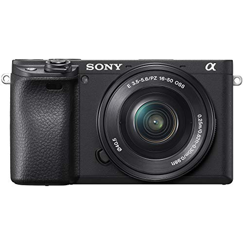 Sony a6400 4K Mirrorless Camera ILCE-6400L/B (Black) with 16-50mm f/3.5-5.6 Lens Kit and 0.43x Wide Angle Lens + 2.2X…