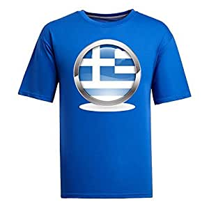 MEIMEICustom Mens Cotton Short Sleeve Round Neck T-shirt, Printed with World Cup Images blueMEIMEI