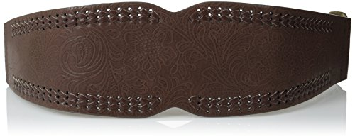 Betsey Johnson Women's Western Stretch Belt, Brown, Small...