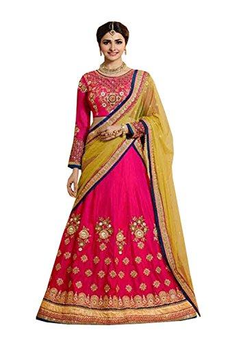Da Facioun Womens Silk Fabric Pink Pretty Circular Lehenga Style 80963 80963