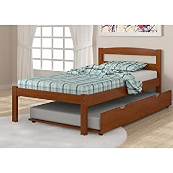 Amazon Com Donco Solid Wood Light Espresso Twin Bed With