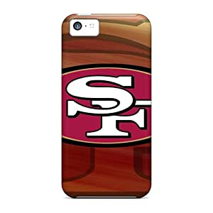 Shock-Absorbing Hard Phone Case For Iphone 5c With Allow Personal Design Colorful San Francisco 49ers Skin AnnaDubois
