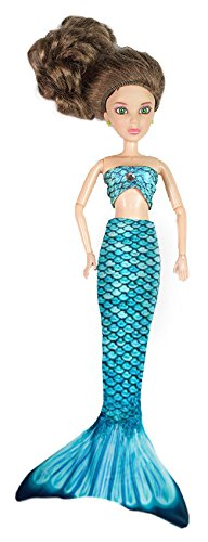 [Fin Fun Mermaid Tail Outfit for Fashion Dolls like Barbie - Mariana's Tidal Teal - Outfit Only, Doll Not] (Fairytopia Barbie Costume)