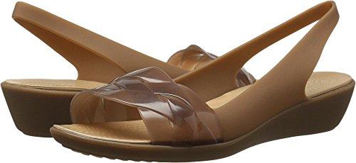 Sling Crocs (Crocs Women's Isabella Slingback Flat, Bronze/Gold, 9 M US)