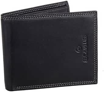 Wallet man B.CAVALLI black in leather with coin purse like well A5728