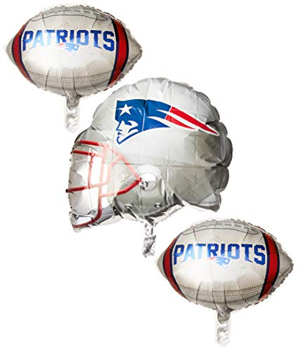 Anagram 31403 New England Patriots Balloon Bouquet, Multicolored