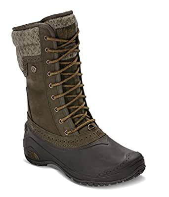 The North Face Women's Shellista II Mid Boot - Tarmac Green/Tapenade Green - 5