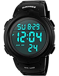 Aposon Mens Military Digital Sport Watch with Fashion Design Electronic LED Back Light Display Water Resistant...