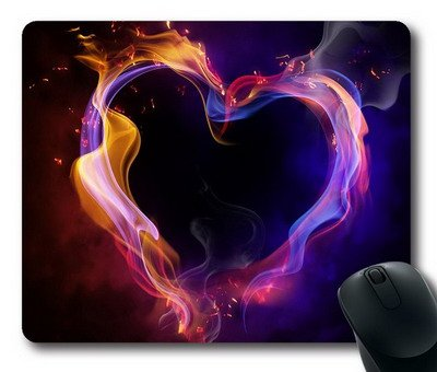 Enjoy happy life ouse Mat,Smoke's heart Office Computer Mouse Pad (220mm*180mm*3mm)