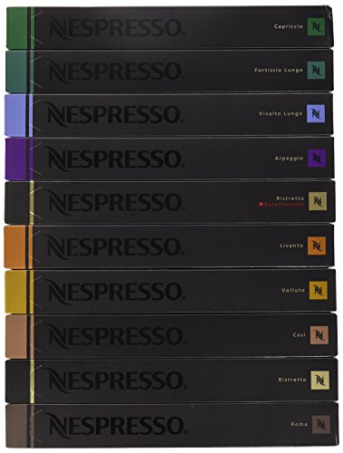 Nestle Nespresso Nespresso OriginalLine Capsules Variety, 100 Capsules NOT compatible with Vertuoline machines by Nestle Nespresso