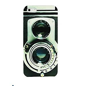 QJM Retro Camera Pattern PC Case for iPhone 4/4S