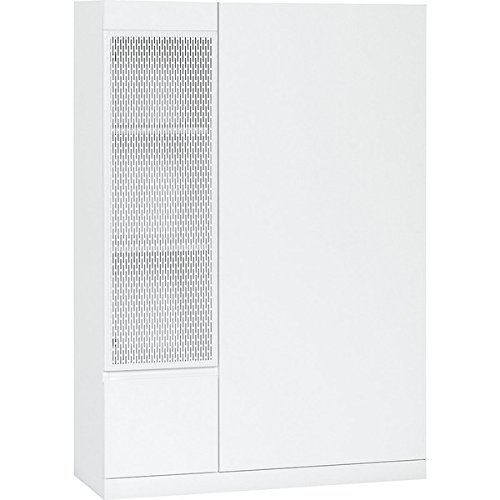 Voelkel Muto Collection White Metal Wood Storage Cabinet by Voelkel Muto Collection