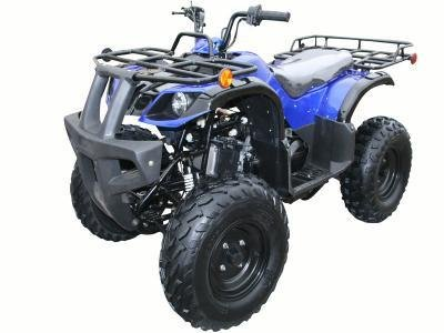 Brand New 85% Assembled 150cc Adult Size ATV with a FULLY AUTOMATIC Engine, LED Headlights  and REVERSE - Blue