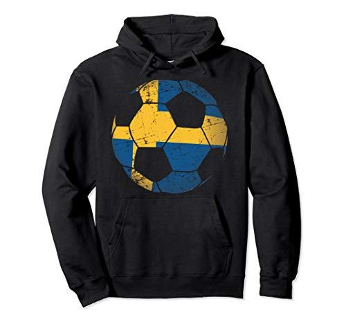 Sweden Soccer Ball Flag Jersey Hood - Swedish Football Gift