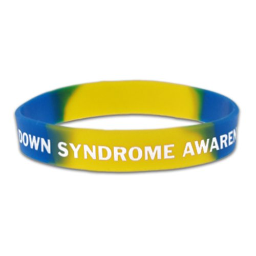 PinMart's Down Syndrome Awareness Rubber Silicone Bracelet