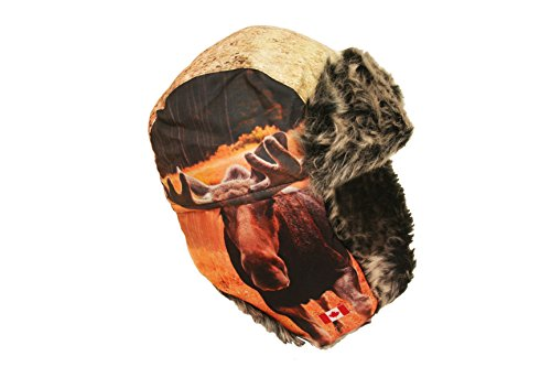 Moose Canada Adult Trapper Furry Winter Hat .. New