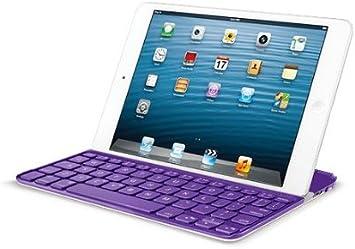 2 Purple 3 w// Retina Logitech Wireless Ultrathin Keyboard Cover iPad mini 1