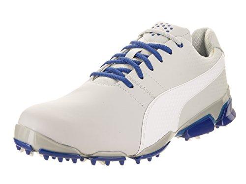 PUMA Men's Titantour Ignite Golf Shoe, Gray Violet White-True Blue, 10 Medium US