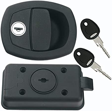 per caravan colore nero Serratura per porta camper sistema FF con serratura a scatto caravan