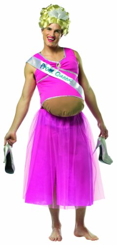 Rasta Imposta Pregnant Prom Queen, Pink, One (Simple Pregnant Halloween Costumes)