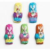 Premium Solid Madelaine Milk Chocolate Easter Mini Bunnies (1 Lb - 52 Pcs)
