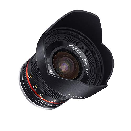 Rokinon RK12M-M 12mm F2.0 NCS CS Ultra Wide Angle Fixed Lens for Canon EF-M Mount Compact System Cameras (Black)