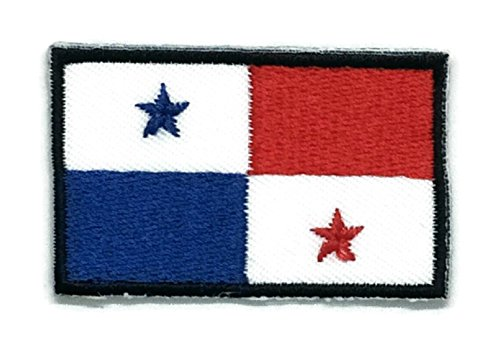 2 x 1.3 inches Panama Flag Patch Sew Iron on Embroidered Badge Symbol - Online Shopping Panama