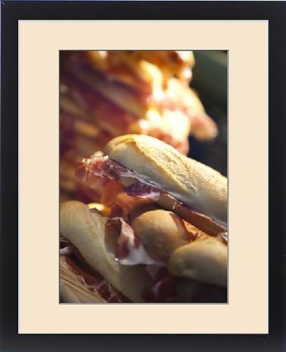 Framed Print of Spain, Castilla y Leon Region, Salamanca Province, Salamanca, serrano ham by Fine Art Storehouse