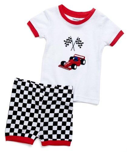 Leveret Shorts Racing Car 2 Piece Pajama 5 Year ()