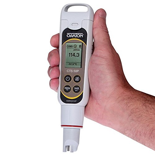 Oakton Tds Tester - Oakton WD-35634-55 Ctstestr 50P Pin Style Waterproof Pocket Conductivity/TDS/Salinity Tester, Fluid_Ounces, Degree C, Plastic, (