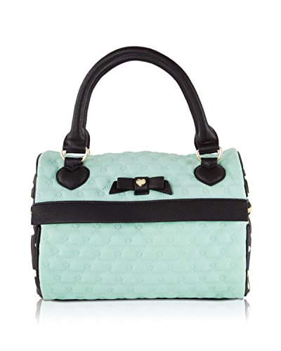 Betsey Johnson Quilted Speedy Insulated Snack Lunch Tote Handbag - Mint Green (Quilted Heart Box)