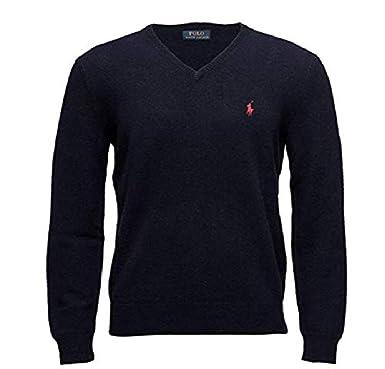 ad9d6db0514 Ralph Lauren Pull Homme Navy 100% Laine (L)  Amazon.fr  Vêtements et ...