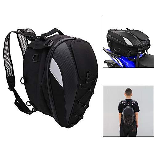 Motorcycle Tail Bag Backpack Helmet Seat Bag Waterproof For Dirt Bike Dual Sport Enduro