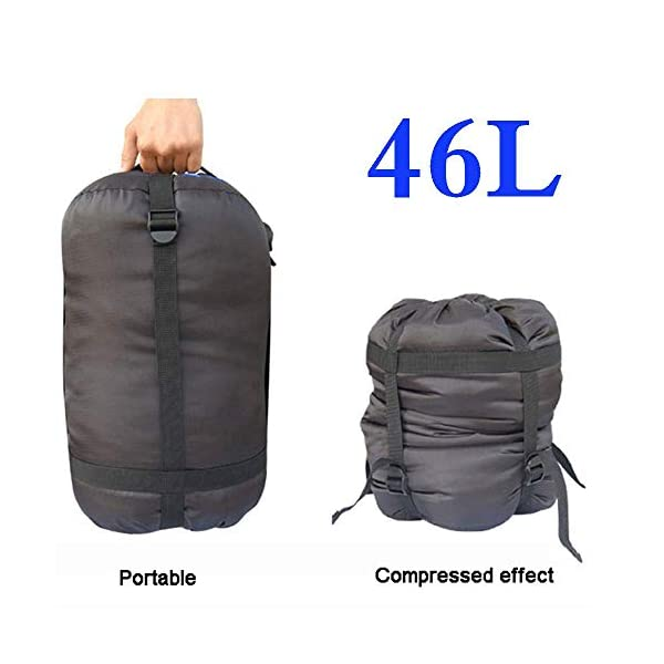 Borogo Compression Stuff Sack, 24L/46L Sleeping Bags Storage Stuff Sack Organizer Waterproof Camping Hiking Backpacking Bag for Travel - Great Sleeping Bags Clothes Camping Hiking 4
