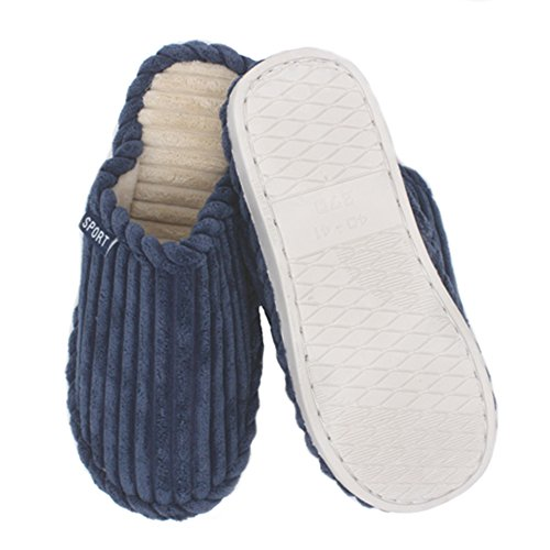 House changbubu Indoor Shoes Slippers Feet Winter Blue Men's Soft Warm Relaxed Anti slip Casual waPAarXq